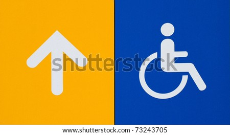 Invalid sign with follow the arrow - stock photo