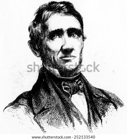 Inventor Charles Goodyear (1800-1860). - stock photo
