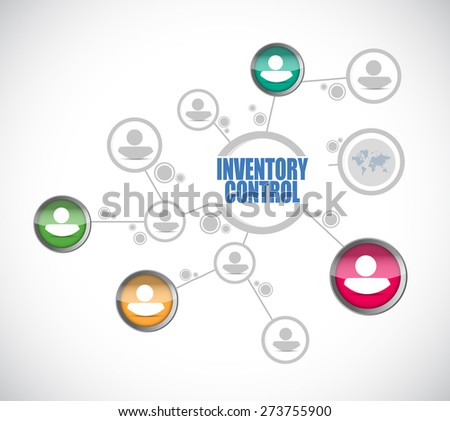 inventory control people diagram sign concept illustration design over white - stock photo