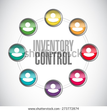 inventory control people network sign concept illustration design over white - stock photo