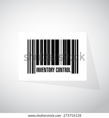 inventory control upc code sign concept illustration design over white - stock photo