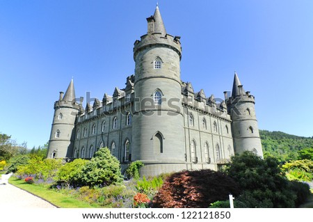Inveraray Castle is an estate house near Inveraray in the county of Argyll, in western Scotland, on the shore of Loch Fyne,It has been the seat of the Duke of Argyll, chief of Clan Campbell