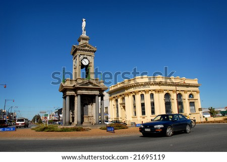 INVERCARGILL - 20 FEB: Invercargill is the world's southernmost city, famous for stunning Victorian architure. 20 Feb 2007, INVERCARGILL, NEW ZEALAND. - stock photo