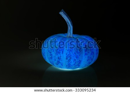 inverse color of a pumpkin - stock photo