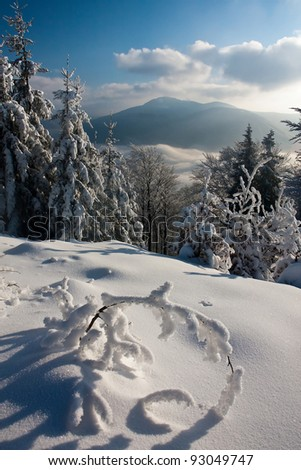 Inverse weather on the Skalka peak - stock photo