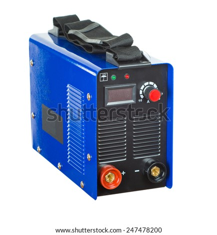 Inverter welding machine . isolated - stock photo