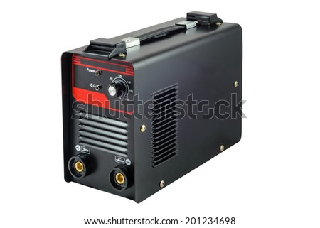 Inverter welding machine. Isolated on white background with clipping path - stock photo