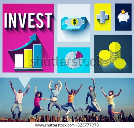 Invest Analysis Financial Economy Planning Concept - stock photo