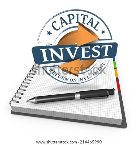 Invest grunge stamp as concept - stock photo