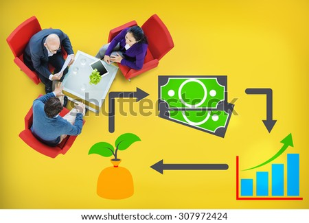 Invest Investment Accounting Money Financial Concept - stock photo