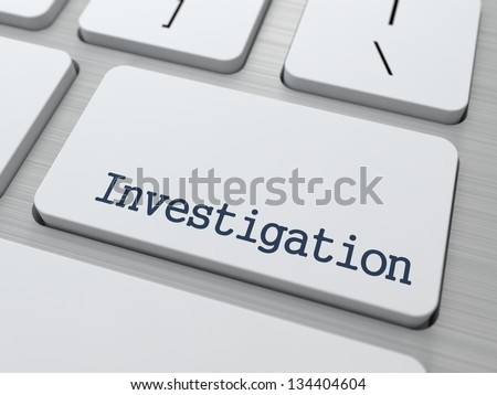 Investigation Concept. Button on Modern Computer Keyboard with Word Partners on It.