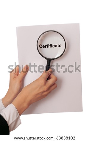 Investigator examines in details the materials of evidence reported by advocate - stock photo