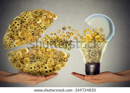 Investing in ideas business concept financial backing of innovation as open lightbulb symbol for funding potential innovative growth prospect through venture capital - stock photo