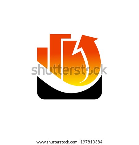 Investing in Real Estate abstract sign Branding Identity Corporate logo design template Isolated on a white background - stock photo