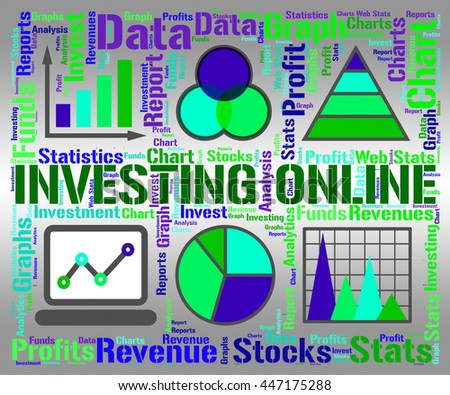 Investing Online Indicating Business Graph And Growth - stock photo