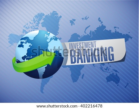 investment banking global sign concept illustration design graphic - stock photo