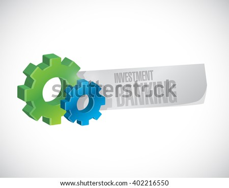 investment banking industrial sign concept illustration design graphic - stock photo