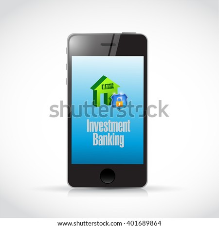 Investment Banking mobile concept illustration design graphic - stock photo