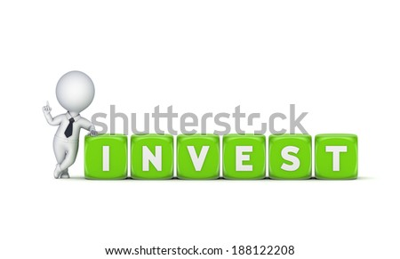 Investment concept.Isolated on white.3d rendered.