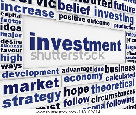 Investment financial poster design. Financial expectations message background