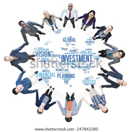 Investment Global Business Profit Banking Budget Concept - stock photo