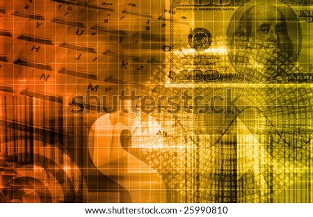 Investment Portfolio Art as a Abstract Background