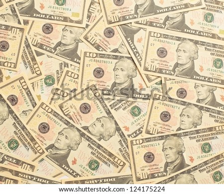 Investment return in American dollars - stock photo