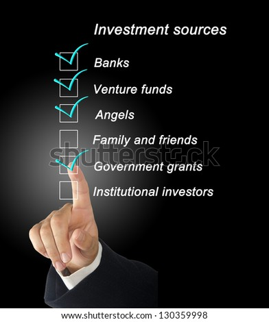 Investment sources checklist - stock photo