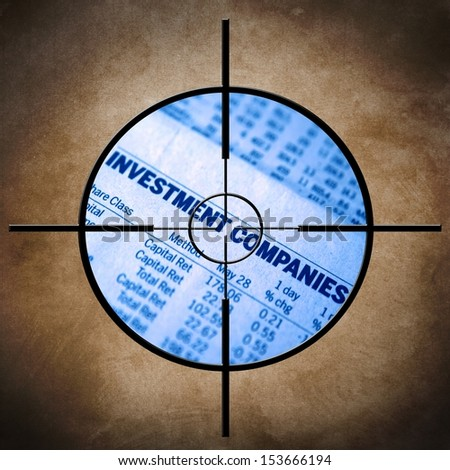 Investment target - stock photo
