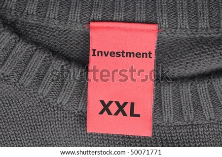 investment xxl label showing financial business success concept