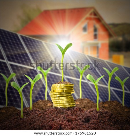 Investments in modern housing and green technologies. - stock photo