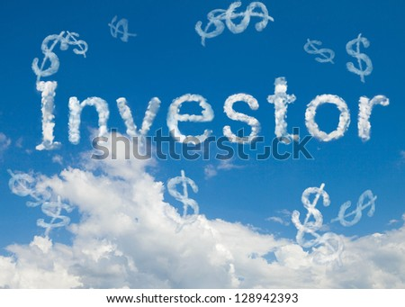 investor cloud word