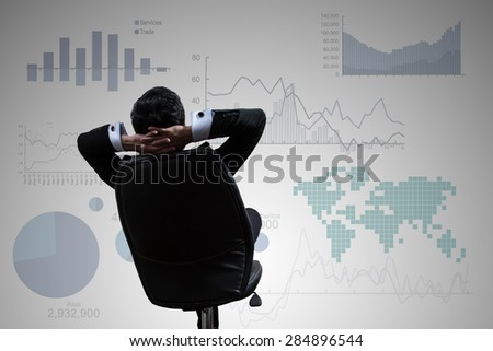 Investor looking growth chart of profits. - stock photo