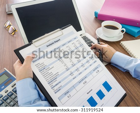 Investors are analyzing data for decision making. - stock photo