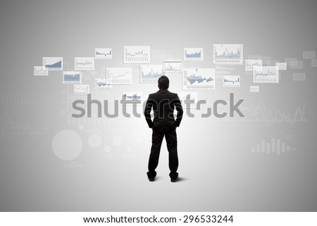 Investors are looking products in the capital market. - stock photo