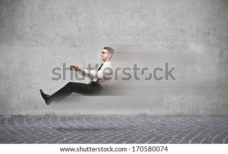 Invisible Speed - stock photo