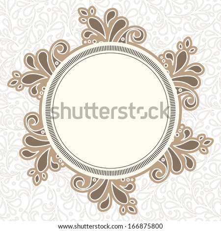 Invitation card in an old-style beige. For vector version, see my portfolio.