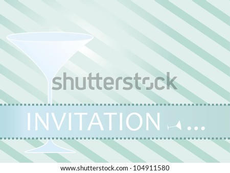 Invitation for cocktail party or fancy event