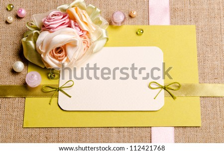 invitation, for holiday message - stock photo