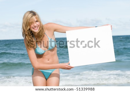 Invitation on summer vacation - stock photo