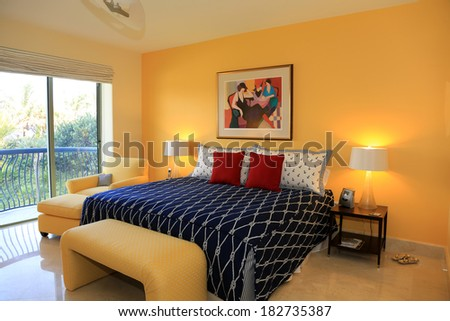 Inviting upscale guest room