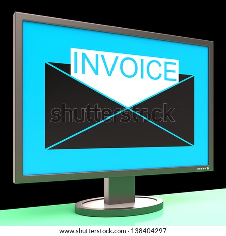 Fake Receipt Generator Pdf Invoice Bill Stock Images Royaltyfree Images  Vectors  What Invoice Means with Receipts For Pork Chops Invoice In Envelope On Monitor Showing Sending Payments Or Bills How To Generate Invoice Pdf