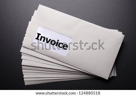 invoice mail concept with envelop showing business - stock photo