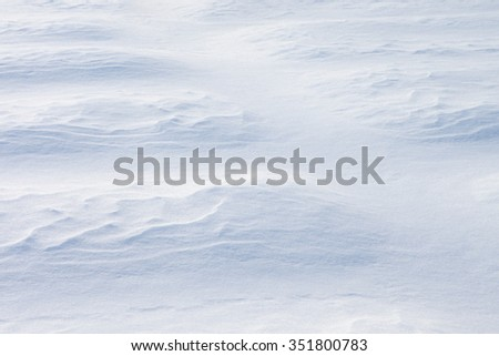 Invoice of snow. White background of a snowdrift.