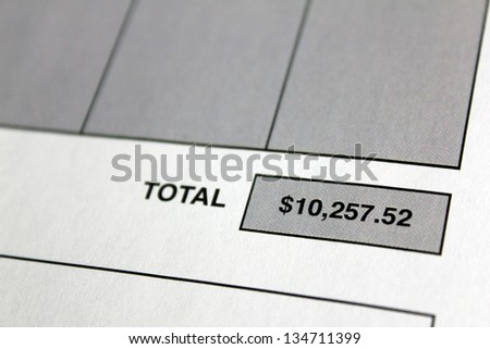 invoice with close up of total or balance due of $10,257.52