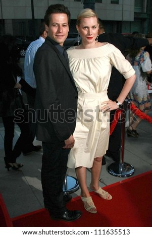 "Ioan Gruffudd and Alice Evans at the Los Angeles premiere of ""Sicko"". Academy of Motion Picture Arts & Sciences, Beverly Hills, CA. 06-26-07"