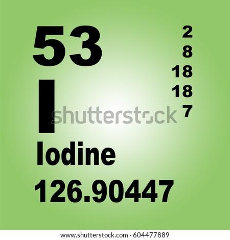 Iodine periodic table elements stock illustration 604477889 iodine periodic table of elements urtaz Choice Image