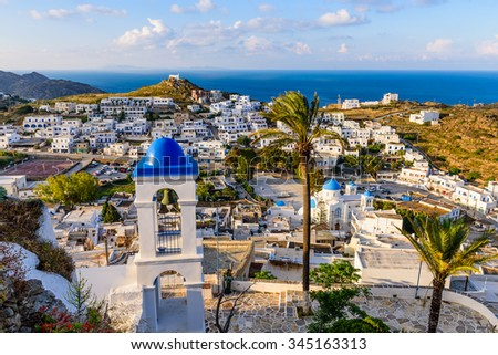 Ios island, Greece - MAY 29: Chora town in MAY 29, 2015, Ios island, Cyclades, Greece.