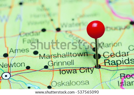 Quotiowa Cityquot Stock Images RoyaltyFree Images Vectors - Map usa iowa