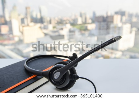 IP Phone Headset and notebook